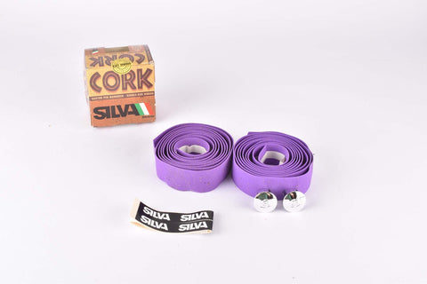 NOS Silva Cork handlebar tape in purple from the 1980s