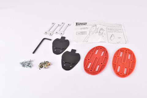 "NOS Time TBT ""Integral"" 4 hole Shoe Replacement Sole Insert Plates for Equipe Pro, Criterium Pro and Challange Pro"