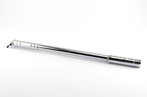 NEW Silca Impero Cromato #Art. 72.20 bike pump in silver in 470-510mm from the 1980s NOS