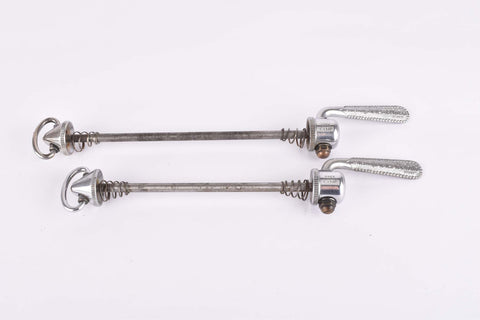 Campagnolo quick release set Record and Super Record, #1001/3 and #1006/8 front and rear Skewer from the 1950s - 1970s