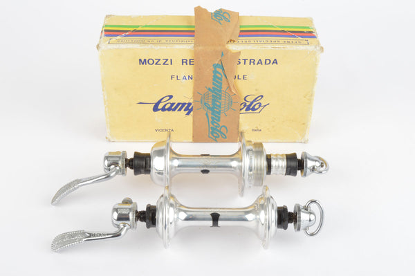 NOS/NIB Campagnolo Record Strada #1034 Low Flange Hub Set, with 36 holes and italian thread