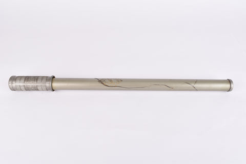 "Silca Esport Milano ""Cicli Trevisio Grigoletto"" grey Bike Pump in 380-420 mm from the 1960s - defect!"