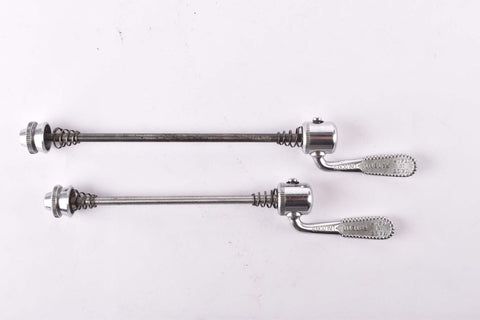 Campagnolo post CPSC quick release set Nuovo Tipo #1310 and #1311 front and rear Skewer from the 1970s - 80s