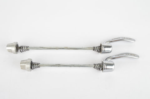 Shimano 105 Golden Arrow quick release set, front and rear Skewer from the 1980s