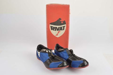 NEW Rivat France Cycle shoes with adjustable cleats in size 41 from the 1980s NOS