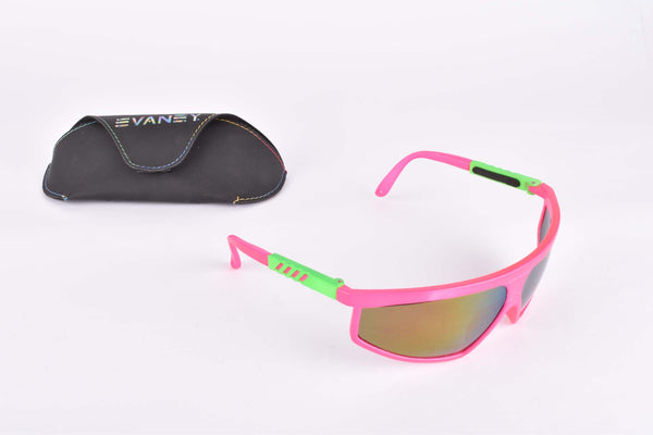 NOS Evaney pink/green Cycling Eyewear from the 1980s