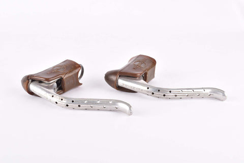 Weinmann AG 605 non-aero Brake lever set with brown hoods from the 1970s - 1980s