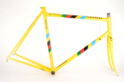 Chesini Innovation frame  in 59.5 cm (c-t) / 52 cm (c-c), with Columbus tubing
