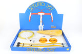 New Raleigh Styling-Set with cabels and toestraps in yellow from the 1980s NOS NIB