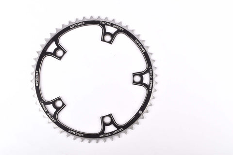 black anodized Gipiemme Crono Sprint Chainring in 52 teeth and 144 BCD from the 1980s