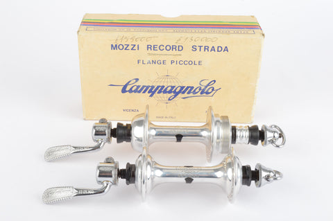 NOS/NIB Campagnolo Record Strada #1034 Low Flange Hub Set, with 32 holes and italian thread