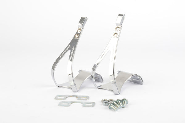 NEW Christophe Brevete Cyclocross steel double toe clip set in size M from the 80s incl. small parts NOS