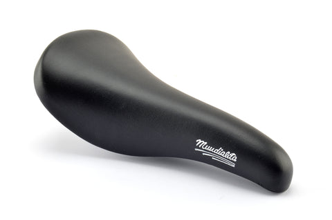 NEW Mundialita black vinyl Saddle from the 1980s NOS