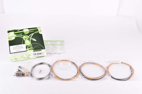 NOS/NIB Nokon Konkavex mountainbike brake cable set with gold aluminum housing (#KON 080 13)