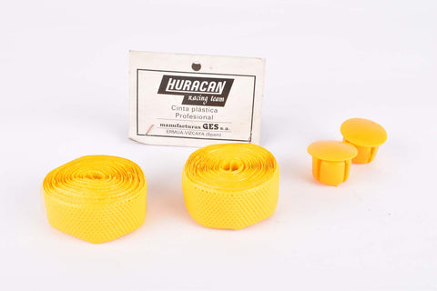 NOS Huracan Cinta plastica handlebar tape yellow from the 1980s