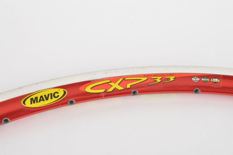 NOS Mavic CXP 33 Single Clincher Rim, 28inch / 622 x 15mm, with 36 holes in red