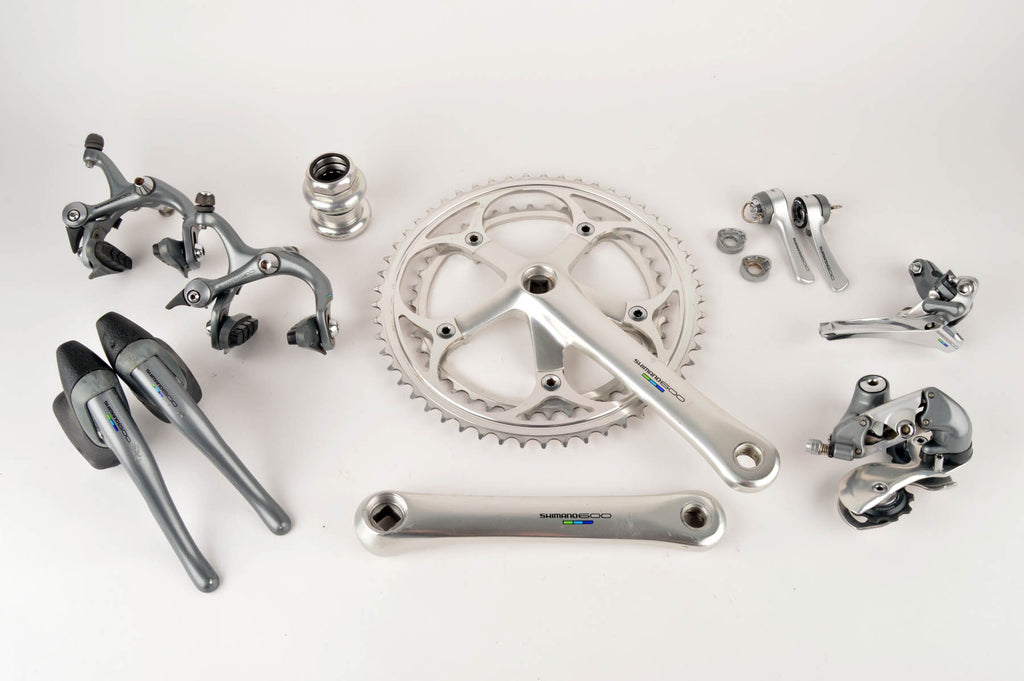 52349183b7d Shimano 600 Ultegra Tricolor #6400 #6401 group set from 1988 - 90s –  Velosaloon.com