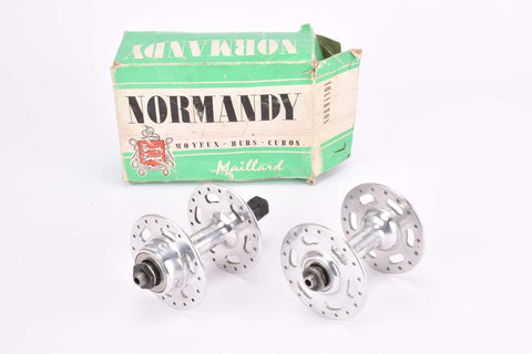 NOS/NIB Maillard (Atom) Normandy highflange hubset with english thread and 36 holes from 1976