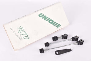 NOS Roto Unique quick release set, front and rear Skewer and Seatpost clamp