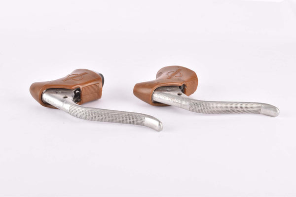 Weinmann AG non-aero Brake lever set with brown hoods from the 1970s / 1980s