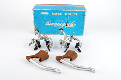 NEW Campagnolo Record #2030 #2040/1 brakeset with world logo hoods from 1960s - 80s NOS