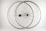Wheelset with Wolber Super Champion Gentelman GTA clincher rims and Shimano 600EX #6207 #6208 hubs from the 1980s
