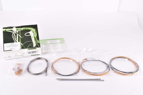 NOS/NIB Nokon Konkavex roadbike brake cable set with gold aluminum housing (#KON 080 17)