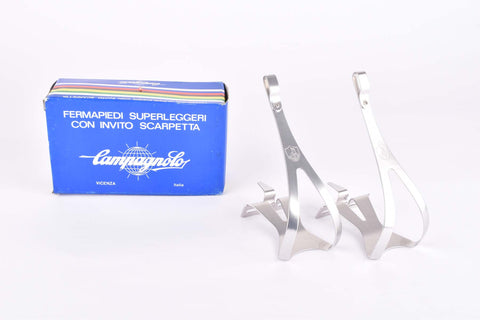 "NOS/NIB Campagnolo Superleggeri ""shield logo"" toe clips in size Large from the 1980s"