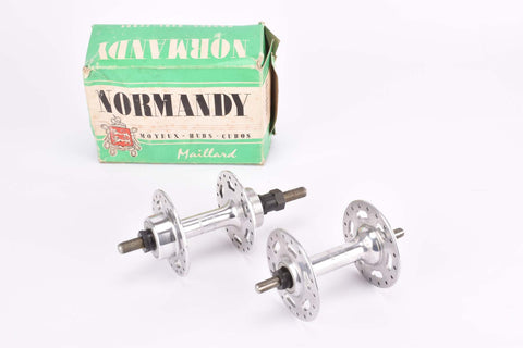 NOS/NIB Maillard (Atom) Normandy highflange solid axle hubset with english thread and 36 holes from 1975 / 1976