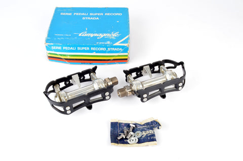 NEW Campagnolo Super Record Strada #4021 Pedals with english threading from the 1974-80s NOS/NIB