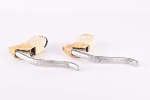 Weinmann AG Vainqueur 999 non-aero Brake lever set with white hoods from the 1960s / 1970s