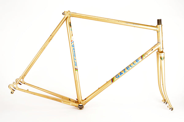 Gazelle Champion Mondial A frame in 58 cm (c-t) / 56.5 cm (c-c), with Reynolds 531 tubing