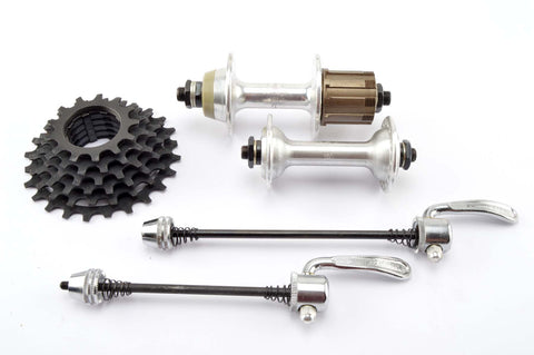 NEW Shimano VIA Hubset incl. skewers and 6-speed cassette from the 1980s NOS