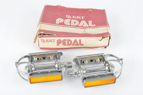 NEW KKT/Kyokuto Top-Run Pedals with cat eyes and english threading from the 1970-80s NOS/NIB