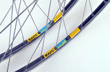 Wheelset with Mavic Open 4 CD clincher rims and Shimano 600 Ultegra Tricolor #6400 #6402 hubs from the 1990s