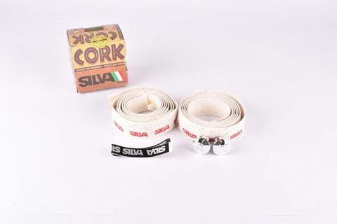 NOS Silva Cork handlebar tape in white from the 1980s