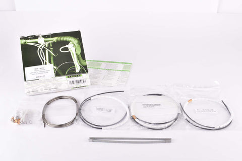 NOS/NIB Nokon Konkavex roadbike brake cable set with white aluminum housing (#KON 011 17)