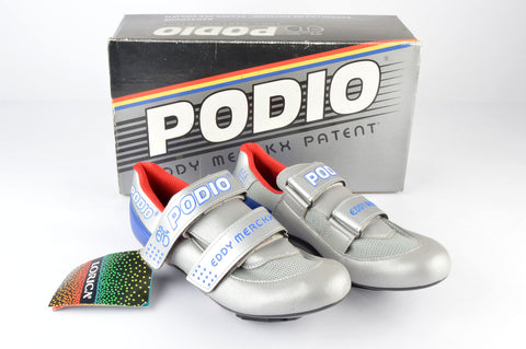 NEW Eddy Merckx S.F.S 2000 Podio Cycle shoes with cleats in size 42 from the 1990s NOS