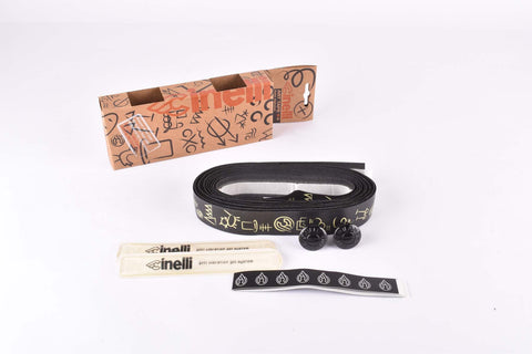 Cinelli Hobo Alphabet Art Handlebar Tape, black