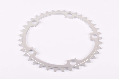 NOS Aluminium chainring with 38 teeth and 130 BCD from the 1980s