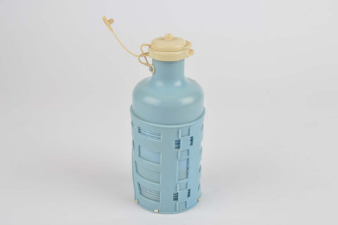 NEW Made in Italy 228 water bottle and 236 water bottle cage in blue/white from 1960s NOS
