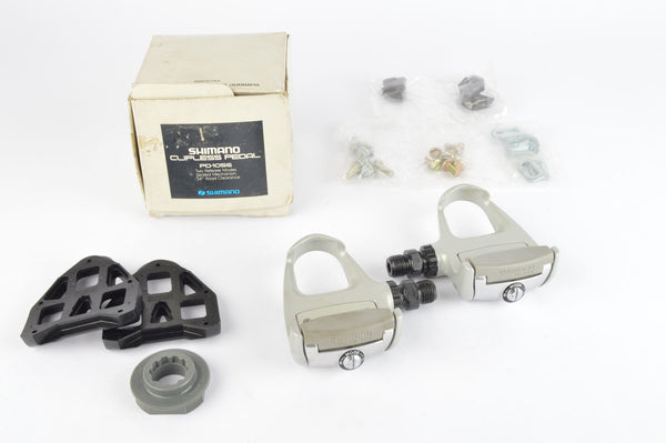 NEW Shimano 105 #PD-1056 Pedals including cleats and english threading from 1990-95 NOS/NIB