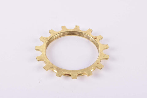 NOS Shimano Dura-Ace #1241517 golden Cog threaded on inside (#BC47) with 15 teeth from the 1970s - 80s