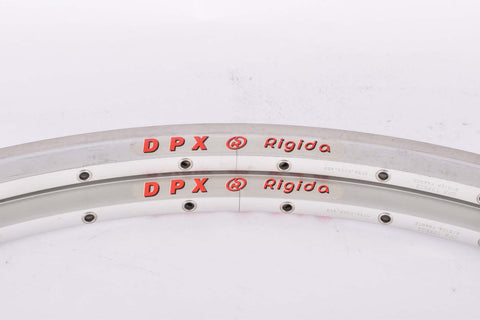 NOS Rigida DPX clincher rimset (2 rims) 700c/622mm with 36 holes from the 1980s - 2000s