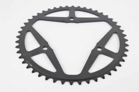 NEW Sugino Maxy dark anodized 3-bolt Chainring with 48 teeth and 106 BCD from the 1970s NOS
