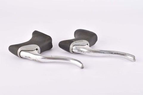 Shimano RX100 #BL-A550 aero brake lever set with black hoods from the 1990s