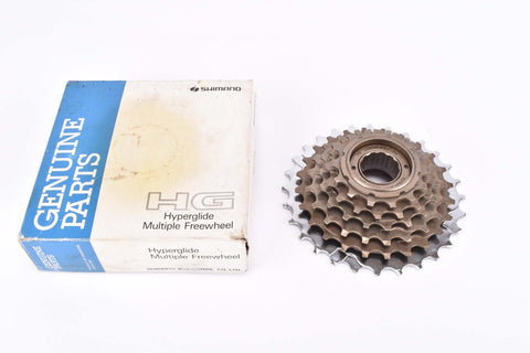 NOS/NIB Shimano SIS #MF-HG20 6 speed Hyperglide (HG) freewheel with 14-28 teeth an english thread from 1991