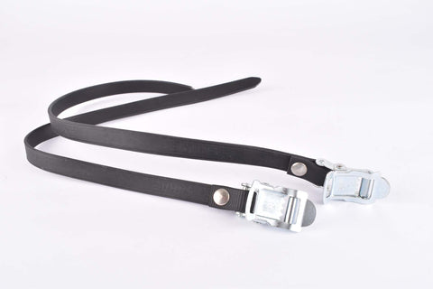 NOS Sakae/Ringyo (SR) synthetical black Toe Straps from the 1980s