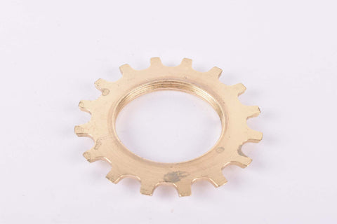 NOS Shimano Dura-Ace #1241614 golden Cog threaded on inside (#BC40) with 16 teeth from the 1970s - 80s