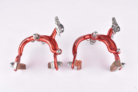 Weinmann AG (730, 810) De Luxe red anodized single pivot brake calipers from the 1950s -  1960s